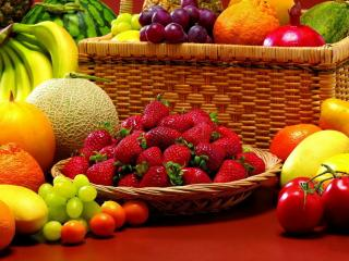 обои Клубника и другие фрукты фото