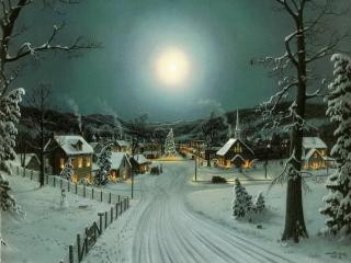 обои Новогодняя луна фото