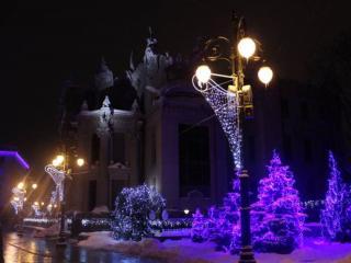 обои Киевские новогодние фонари фото