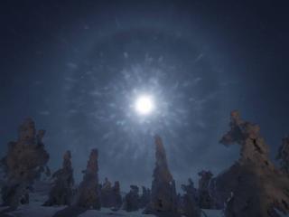 обои Сияние зимней луны фото