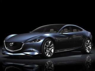 обои Спорткар черная Mazda фото
