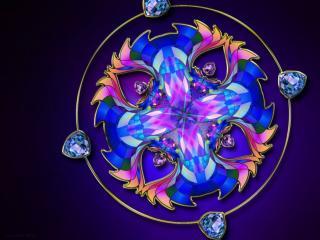обои Кулон с голубыми камнями фото