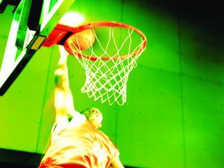 обои Баскетбол - бросок в кольцо фото