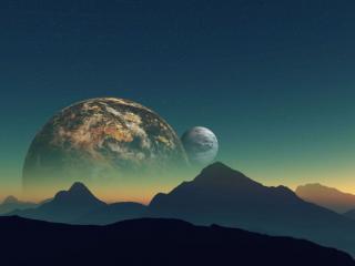 обои Планеты и горы фото