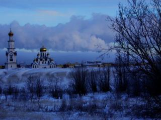 обои Зимний рассвет фото