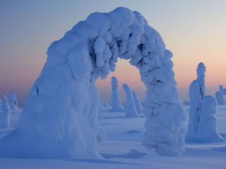 обои Снежные врата фото