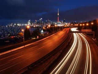 обои Ночная автострада Мельбурна фото
