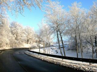 обои Зимнее шоссе фото