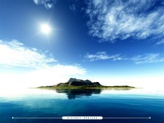 обои Одинокий остров фото