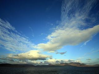 обои Облака над морем фото