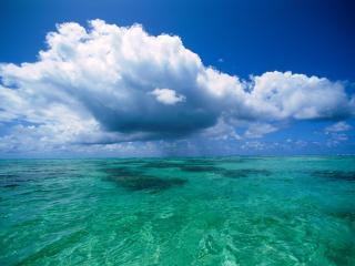 обои Облака над голубой водой фото