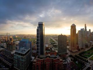 обои Панорама современного города фото