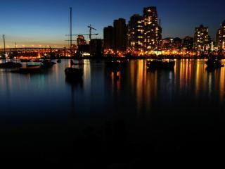 обои Залив ночного города фото