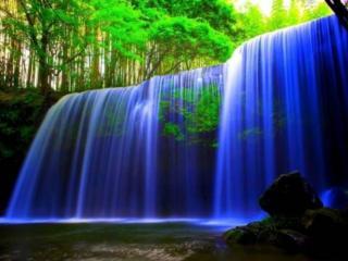 обои Голубой водопад фото