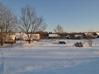 обои Деревенская зима фото