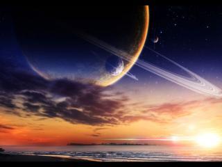 обои Планеты и море фото