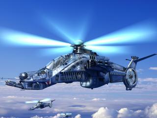 обои Фантастический вертолет фото