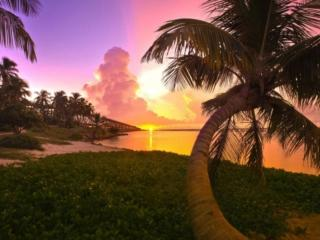 обои Тёплый морской закат фото