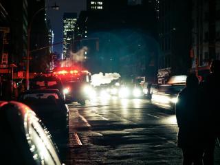 обои на улице города ночь фото