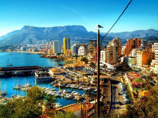 обои Большой город на побережье фото