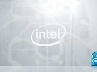 обои Логотип фирмы Интел фото