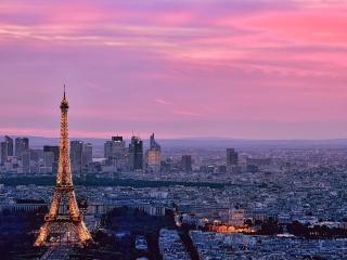 обои Париж на закате фото