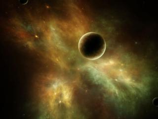 обои Планеты в космической пучине фото