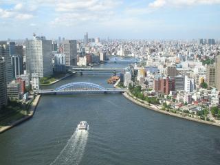 обои Река в городе фото