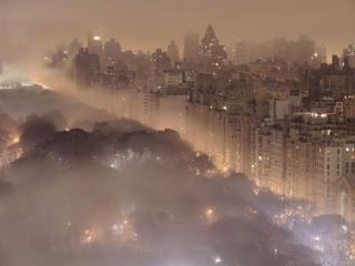 обои Город в тумане фото
