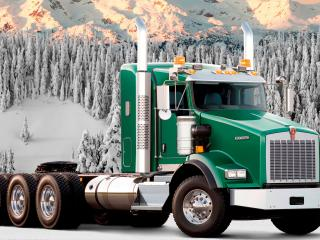 обои в снежных горах грузовик фото