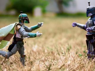 обои две игрушки в сухой травe фото