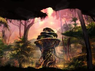обои в лесу фантастическом фото