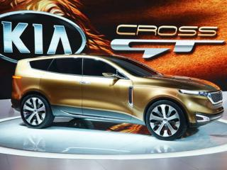обои Золотой Kia Cross GT фото