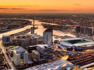 обои разные сооружения города с птичьего полета фото
