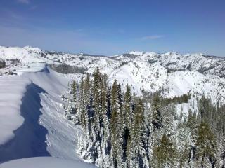 обои Большой снег в гоpах и лeс фото