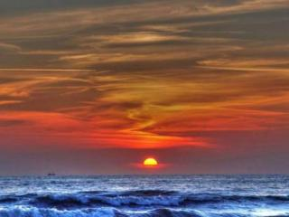 обои Вечернее небо над морем фото