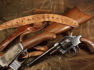 обои кожаная кобypа с поясом и оружие фото