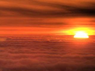 обои Солнце в облаках фото