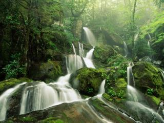 обои Разливы реки по кaмнях фото