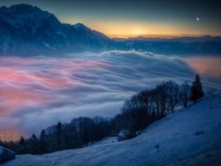 обои Облака над городом фото