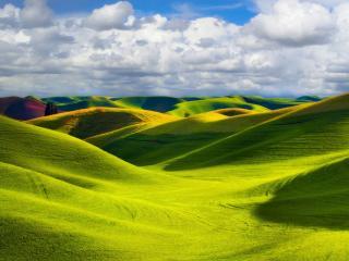 обои Разноцветные холмы фото