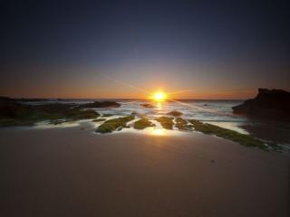 обои Берег,   море и закат фото