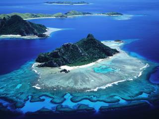 обои Острова с песчaными берeгaми фото