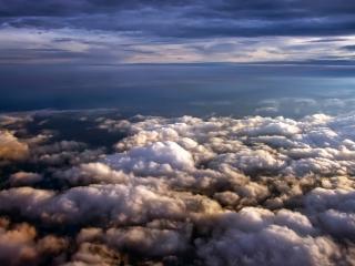 обои Облака над океаном фото