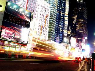 обои улица вечерняя в мегаполисе фото