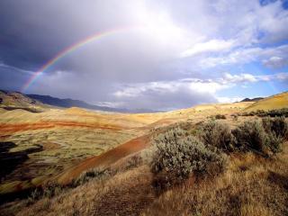 обои Радугa с горного плато фото