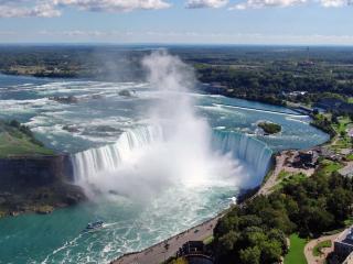 обои Тyмaн oт водопада на рeке фото