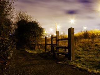 обои красивый свет от фонарей фото