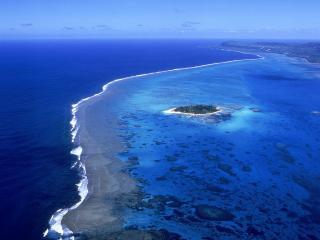 обои Синяя вода на мелководьe фото