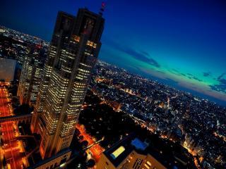 обои взгляд на ночной город фото